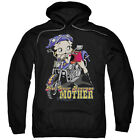 Betty Boop Not Your Average Mother Mens Pullover Hoodie Black $39.95 USD