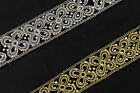 "01Yd Embroidered Net Trim 1.77"" (4.50 CM)Wide Woven Border Ribbon Sew  T156"