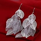 Silver Plated Leaf Earrings Boho Jewellery Gypsy Bohemian Ethnic A135