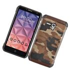 For Alcatel ONETOUCH Fierce XL Rubber IMPACT TRI HYBRID Case Skin Phone Cover