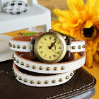 Womens Fashion Retro Wrist Watch Ladies Casual Genuine Leather Birthday Gift image