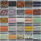 2mm 3mm 4mm Natural Gemstones Faceted Round Spacer Seed Beads 15'' Jewelry DIY