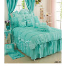 Frilly Lace Queen/King Size Bed Quilt/Doona Cover Set New 100% Cotton Bed Skirt