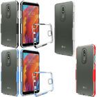 For LG Fortune M153 Rubber IMPACT TUFF Hybrid KICKSTAND Hard Case Phone Cover