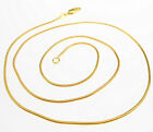 """Wholesale Sale 5pcs 16""""-30"""" Jewelry 18k Gold Filled Snake Link Chain Necklace"""
