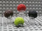 LEGO BUBBLE AFRO STYLE HAIR ~Minifigure Wig Clown Red Lime Green Brown Black NEW