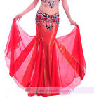 New Belly Dancing Costume Performance Skirt Long Fishtail Skirt Dress 9 colors