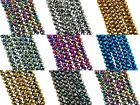 3x2mm Electroplated glass crystal faceted Rondelle / Abacus beads ~16inch strand