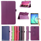 Fr Samsung Galaxy Tab 3 4 Tablet Glass Screen SP + Flip Leather Case Stand Cover