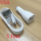 OEM USB Cable Fast Car /Wall Charger For Samsung Galaxy J7 (2017) USA