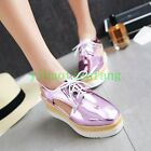 Womens Wedge Heels Cut Out Platform Casual Shoes Sandals Lace Up Sweet Slingback