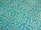 INDIAN GARDEN - SMALL BERRIES ON TURQUOISE 100% COTTON