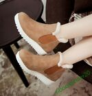 Cute Korean Ankle Boots New Fashion Women's Buckle Stylish Winter Faux Suede US7