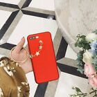 Plated Metallic Red circle pendant soft Case cover shell For iPhone6/6S/7/7 Plus