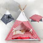 Portable Foldable Pet Kennel Dog Cat House Tent + Bed Mat Kit with Cushion I4W6