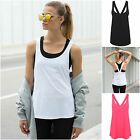 Womens Sports Vest Fitness Exercise Gym Yoga Tank Tops Singlet Loose Tops