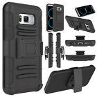 For Samsung Galaxy S8/Edge/S8+ Phone Case Holster Belt Clip Kickstand Hard Cover