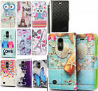 For LG K20 Plus Premium Leather Wallet Case Pouch Flip Phone Cover Accessory