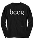 "Lucky Wear 4 Men - Favorite Drinking Shirt - "" beer "" - Long Sleeve Tee"