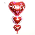LOVE YOU HAPPY DAY Foil Letter Balloon Celebration Party Wedding Birthday Decor@