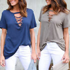 Fashion Casual Womens Pullover T Shirt Short Sleeve Cotton Tops Shirt Blouse New