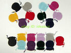 "12-25-50-100pcs Oval Velveteen Jewelry Pouch Wedding Favor Bag 3""x2.5"" 3.5""x2.7"""
