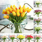 10x False Tulip Tulips Real Touch Pu Fake Flowers Bouquet Home Wedding Decor New