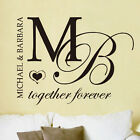 Together Forever Always Personalised Name Vinyl Wall Sticker