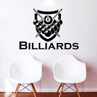 Wall Decal Billiards Sport Vinyl Sticker Decals Home Gym Logo Window Decor NS466