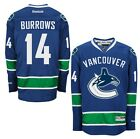 ALEX BURROWS Vancouver Canucks Home Reebok Premier Officially Licensed Jersey