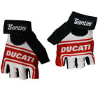 Santini Ducati Summer Cycle Cycling Bike Fingerless Mitts Gloves - Clearance