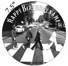 Personalised Beatles Edible Icing Topper 7.5in Precut Round Square Rectangle