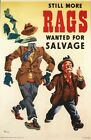 Vintage World War 2 Rag and Bone Collection Poster A3/A2/A1 Print