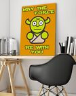 "Artzee Designs Modern Quote Star Wars ""Force Be With You"" Canvas Art"