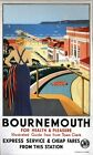 Vintage GWR Bournemouth Health and Pleasure Railway Poster A3/A2/A1 Print
