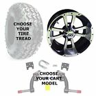 "EZGO Jake's 6"" Golf Cart Lift Kit, 22"" Tire, & 10"" Storm Trooper Wheel Combo"
