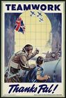World War 2 British Canadian Aircraft Production  Poster A3/A2 Print