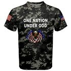 ONE NATION UNDER GOD Eagle Military America USA Digital Camo Camouflage T-SHIRT