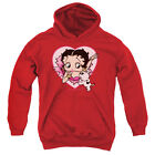 Betty Boop I Love Betty Big Boys Youth Pullover Hoodie Red $45.05 CAD