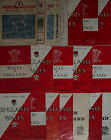 WALES v ENGLAND RUGBY PROGRAMMES 1957 to 2001 *****CHEAPEST ON EBAY*****