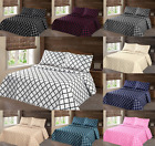 Внешний вид - 2/3PC LANCASTER GEOMETRIC BED BEDSPREAD QUILT SET COVERLET MODERN  IN 4 SIZES