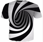 Hot Sale!! New Fashion Womens/Mens Hypnosis Funny 3D Print Casual T-Shirt
