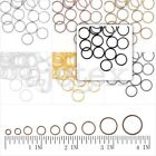 30g New Round Jump Rings Open/Close Jewelry Findings Iron Connectors 3-14mm