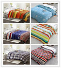 Striped Blankets Single/Double/Queen Size Bed Linen Lush Warm Flannel Super Soft