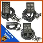 Pulse 10m/15m/30m/40m Tour Grade XLR Multicore Snake Stage Box Wall Mountable
