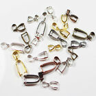 Nickel Free Charms Pendant Pinch Bails Connectors Finding 14mm/16mm/20mm/24mm