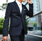 Mens Suit  Navy Slim Fit Two Button Wedding Tuxedos Groom Party Prom Suits