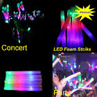 60/100/200 PCS LED Foam Sticks Light Up Baton Rave Tube Wand For Party Concert