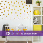 15 of 1inch, 40  2 inch POLKA DOTS wall stickers decal small medium confetti dot