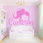 Elephant Wall Decals Name Decal Vinyl Stickers Nursery Bedroom Baby Decor MN639